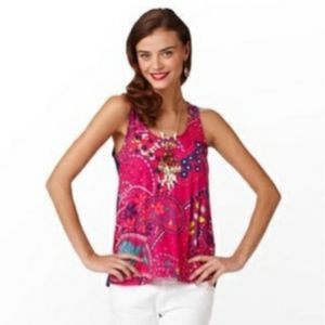 Lilly Pulitzer Hart Top Pink Size Small